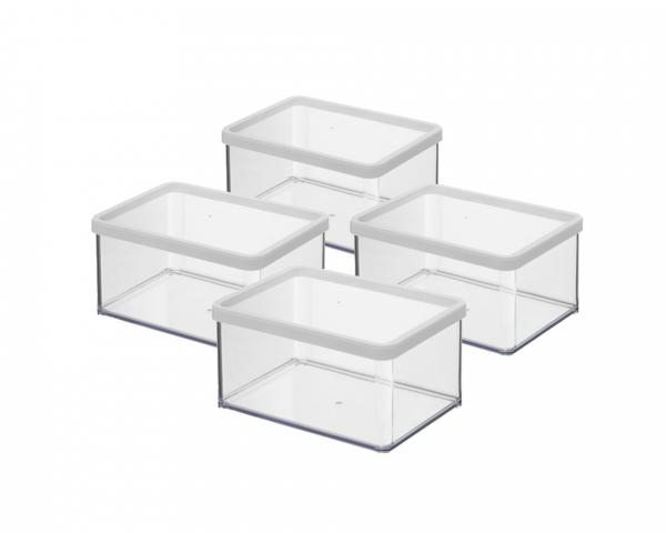 Premium Vorratsdose 4er Set flach 2,25 l