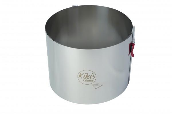 NEU mit Skalierung - Kikis Tortenring XL mit Klemmhebel Höhe 15cm