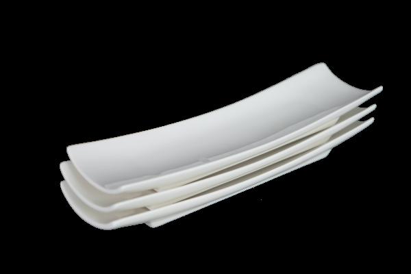 Porzellanschalen Set aus 3 Stück - länglich