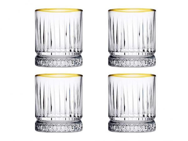 NEU: GOLDEN TOUCH Trinkgläser Elysia Kristall-Design 4 x 210ml kurz