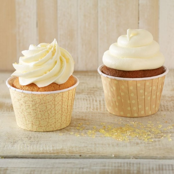 Crinkle Cups Pastell- gelb