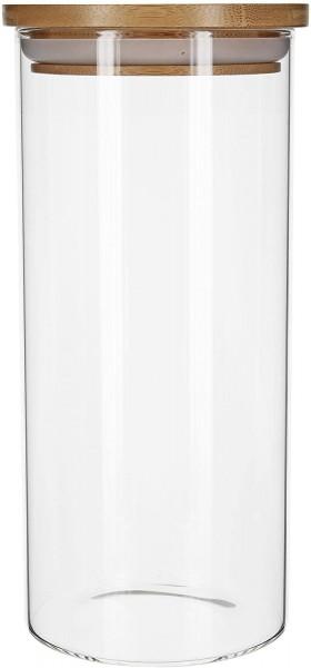 Aufbewahrungsglas mit Bambusdeckel - 1200 ml