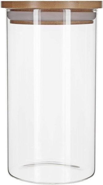 Aufbewahrungsglas mit Bambusdeckel - 500 ml