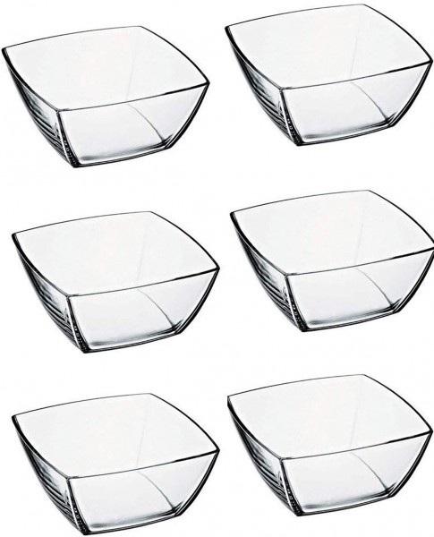 Glasschale quadratisch - 6er Set