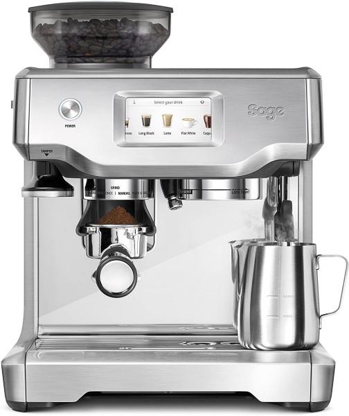 Sage Barista Touch™ Kaffeemaschine - Siebträger - Gebürstetes Edelstahlgrau + Kikis Kaffeglück 500g