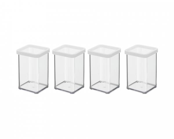 Premium Vorratsdose 4er Set quadratisch 1,0 l