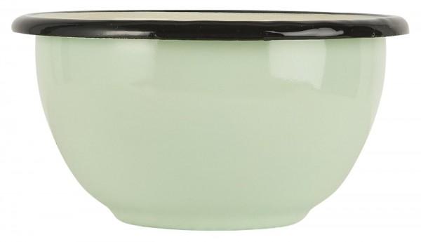 Schale Emaille hellgrün - creme innen